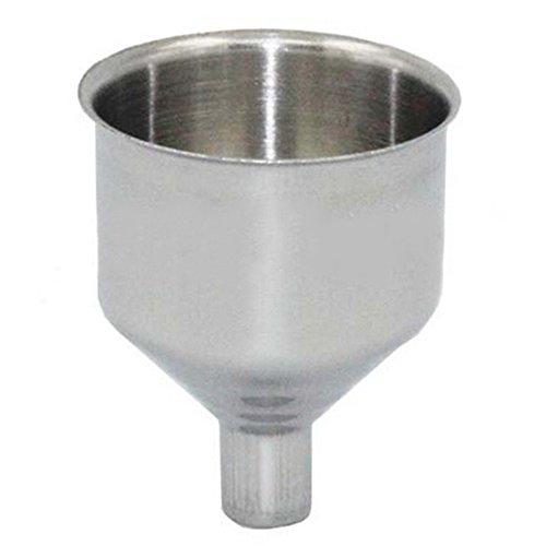 Matraz de boca ancha de acero inoxidable embudo para lavavajillas Hip Frascos Vino Pot Flagon para transferencia de líquido, líquido, seco ingredientes y polvo