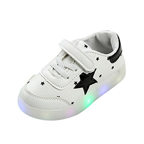 Muium 1-6 Years Old Kids Shoes Toddler Infant Baby Boys Girls LED Light Up Star Luminous Sneakers Boots