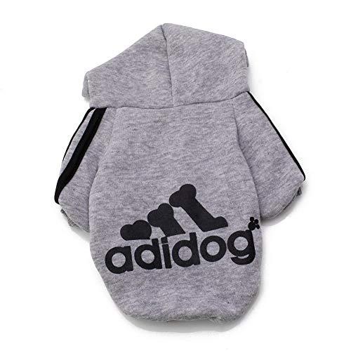 Rdc Pet Adidog Dog Hoodies, Apparel, Fleece Basic Hoodie Sweater, Cotton Jacket Sweat Shirt Coat for Small Dog & Medium Dog & Cat ()