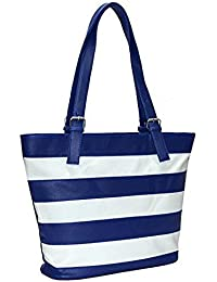 Generic Women's Casual Shoulder Bag Or Handbag (Blue And White)