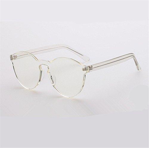 ZYPMM 2017 neue koreanische im Freiendamen Sonnenbrille männliche Plastiksonnenbrille Europa und die Vereinigten Staaten Tendenz Retro Gläser polarisiertes Licht ( Color : Weiß )
