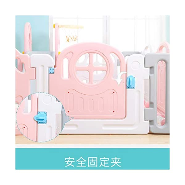 Children's Game Enclosure Assembly Indoor Environmental Protection Fence - 2 Sizes (Size : 180×200cm) FYONG External door opening: the door opening is designed on the outside of the enclosure to prevent the baby from opening the gate of the enclosure himself, and the mother is more comfortable Size: 150 x 180cm, 180 x 200cm, two sizes available A mother's lifesaver: keep the baby safe in the play center when mom/dad needs to cook, clean, go to the bathroom, etc 4