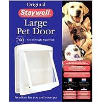 Staywell 760 - Puerta para Mascotas Blanca Grande - Solapa Transparente