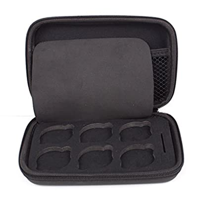 Owoda 6 Slots Portable Lens Storage Box UV CPL ND Filter Lens Case Shockproof Waterproof Bag for DJI Phantom 4 3 2 SLR Camera