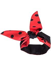 Rotes Haarband schwarze Punkte extra breit (11x ca.93 cm) Rockabilly auch als Nickituch