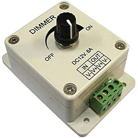 PWM regulador de intensidad controlador para LED luces o cinta, 12Volt 8Amp, 3301