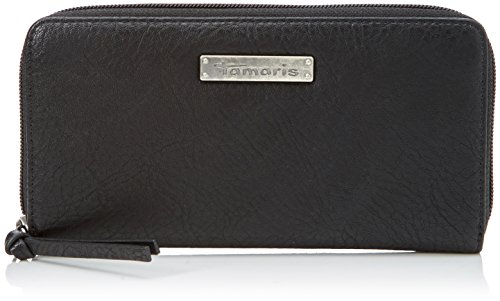 Tamaris Damen Patty Big Zip Around Wallet Geldbörse, Schwarz (Black), 2x10x19,5 cm