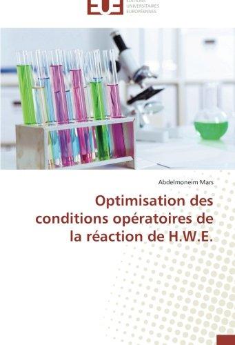 Optimisation des conditions opératoires de la réaction de H.W.E. par Abdelmoneim Mars