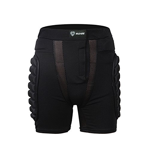 Snowboard Protektoren Unterhose Snow Protector-Shorts Schutz Sport-Pants für Hüften und Beine Pads Gepolsterte Shorts Armor Motorrad Motocross Racing Ski Bergsteiger Sport Hockey Knight Gear (S) (Womens Bike Shorts Padded)
