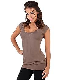 KRISP - Camiseta - Básico - cuello en V - Manga corta - para mujer