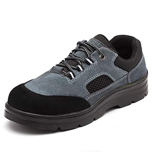 chuhe, Stahl-Zehenschutz, Industrie-Konstruktion, Sneaker, pannensicher, atmungsaktiv, rutschfest, Arbeitsversicherungs-Schuhe, 44 ()