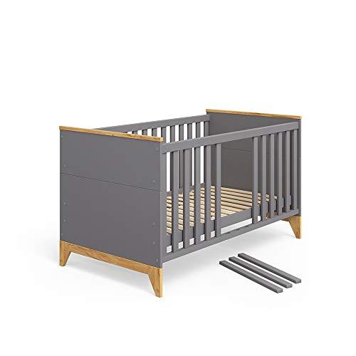 Vicco Babybett Malia Babybett, Kinderbett, Juniorbett 140x70 cm mit Trennwänden höhenverstellbare...