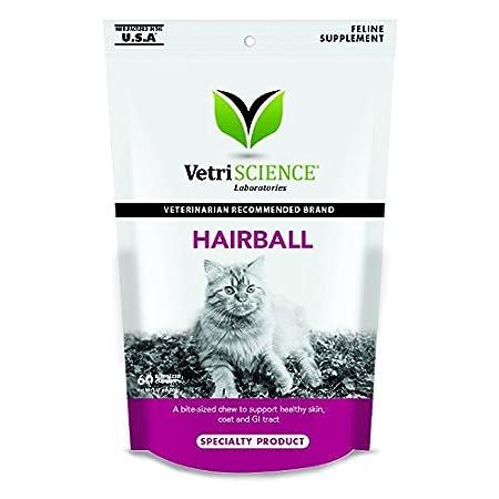 vetriscience Laboratories Hairball Verdauung unterstützen die Huhn Leber nach Honig 60Soft Kaubonbons für Katzen