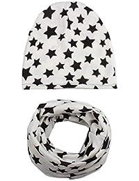 Hosaire Set Bufandas Conjunto Cuello Patrón de Pentagrama Invierno Niño Niña Sombreros Algodón Hecho Lindo del