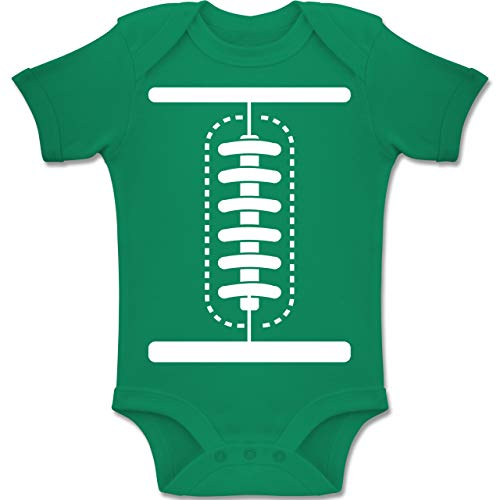 Shirtracer Karneval und Fasching Baby - Football Baby Kostüm - 1-3 Monate - Grün - BZ10 - Baby Body Kurzarm Jungen - New Orleans Karneval Kostüm