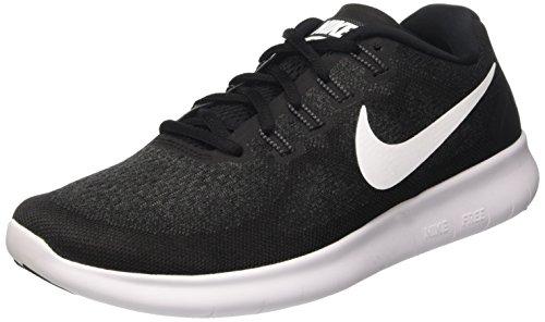Nike Herren Free RN 2017 Schwarz Sneaker, Schwarz (Black/White 001), 47 EU (Nike Schuhe Herren Free Run)