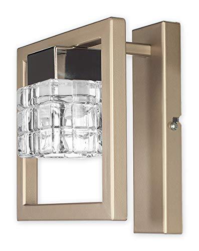 Elegante Wandleuchte in Klar/Transparent Chrom Bauhausstil 1xE14 bis 60W 230V aus Stahl & Glas...