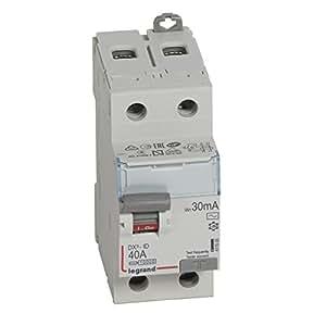 Legrand LEG411505 Interrupteur différentiel dx-id Vis/Vis 2P 230 V 40 A Type AC 30 mA Départ bas 2 m