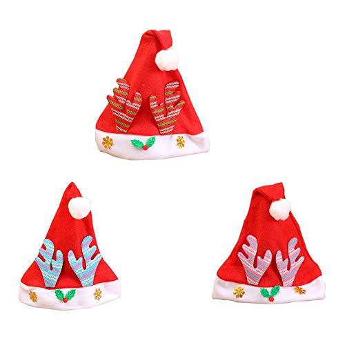 aments Christmas Hat Santa Hat Antler Cap ()