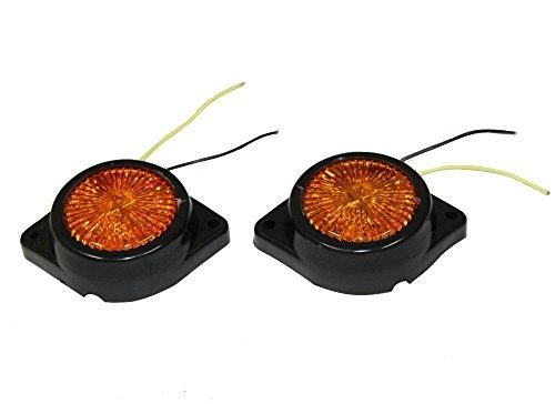 Aerzetix - 2 X Markierungsleuchten Standlichtlampen 12V 5 LED für Auto, Kleinbus bernstein- oranges Licht