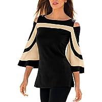 Sunday Frau Kaltes Schulter-Sweatshirt mit langen Ärmeln Pullover Tops Schulterfrei Bluse Shirt Damen Cold Shoulder... preisvergleich bei billige-tabletten.eu