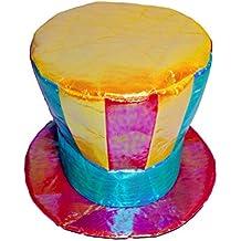 BESTOYARD Sombrero Payaso Sombrero Plano Sombrero de Payaso Gorra Deportes  Sombreros mágicos Colorido Traje de Cosplay d565991cd52