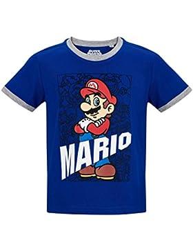 Nintendo Super Mario Bros - Camiseta de Manga Corta - para Niño