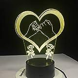Hand in Hand schwört Kleiner Finger versprochene Liebeslichter, Farbe, Nachtlicht, Kindertischlampe, Liebesgeschenk