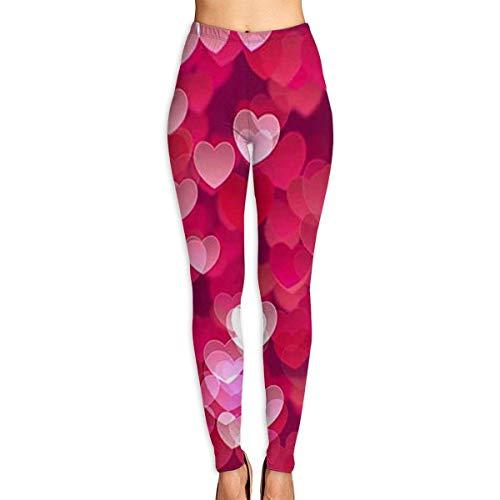 Ewtretr Yoga Pilates Hosen Fitnesshose für Damen, Valentine's Day Love Heart Printed Leggings Full-Length Yoga Workout Leggings Pants Valentines Day-hose