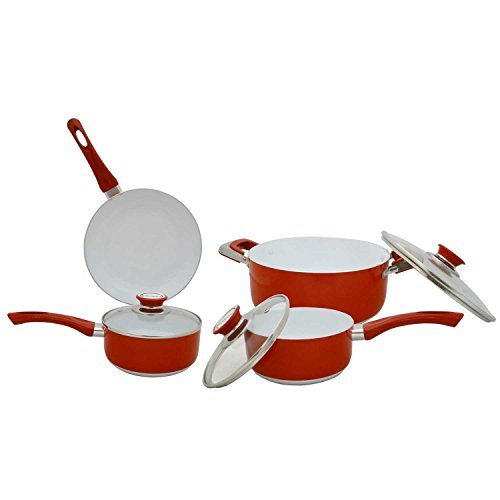 Concord Cookware CN700 7-Piece Eco Healthy Ceramic Nonstick Cookware Set by Concord Cookware