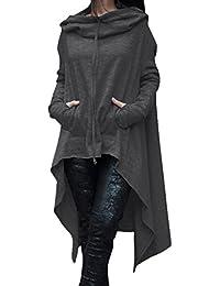 Freestyle La Mujer Primavera Otoño Casual Moda Manga Larga Pullover Vestido Sudaderas con Capucha Plus Tamaño