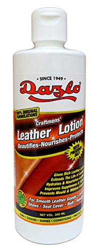 Dazlo Craftmens' Leather Lotion (300mL) - Beautifies, Nourishes & Protects - For GENUINE LEATHER ONLY