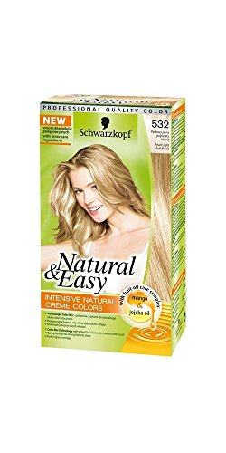 tinta per capelli permanente natural & easy n 532 biondo perla