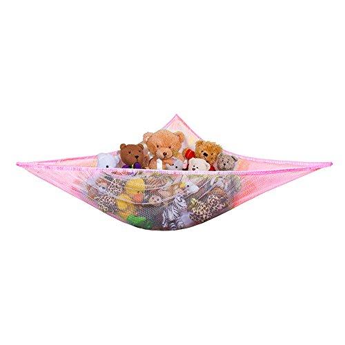 Yuccer Spielzeug Hängematte, Aufbewahrung Netz für Kuscheltiere Hängetasche für Kinder und Kleinkinder Spielzeug Veranstalter Storage Net (Rosa)