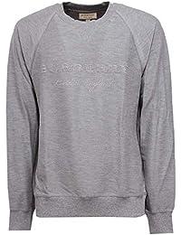 BURBERRY 8864X Felpa Uomo Grey Cotton Sweatshirt Man 63b897feb55