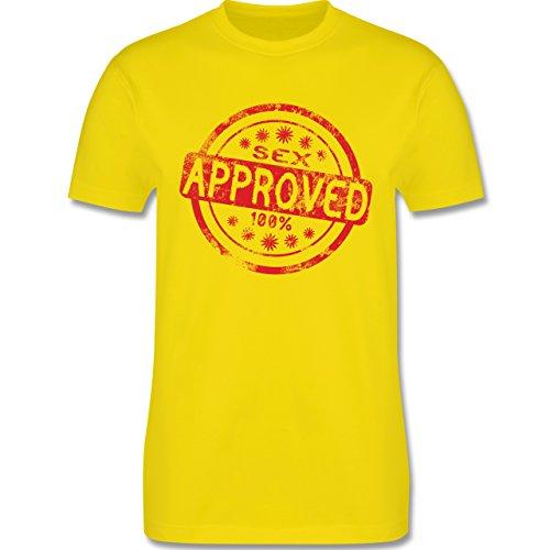 lustige Sprüche - Sex approved - L190 Herren Premium Rundhals T-Shirt Lemon Gelb