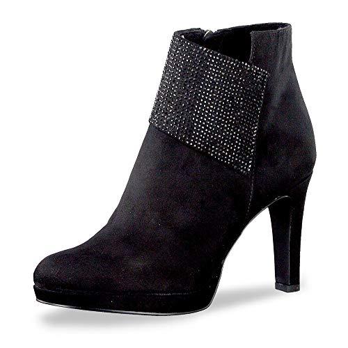 Tamaris 1-1-25383-23 Damen Stiefelette Black Glam, EU 39