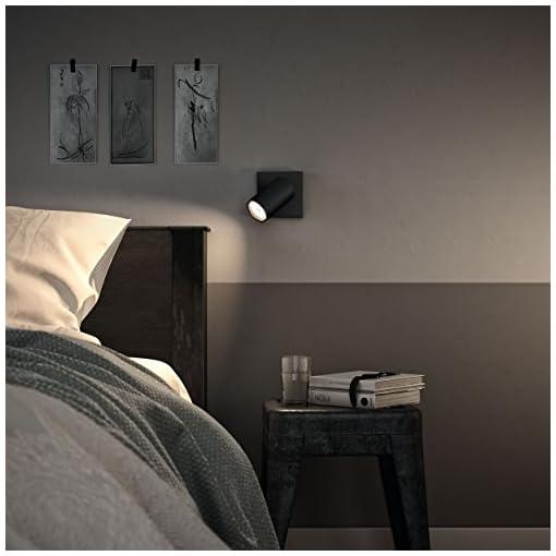 Philips Lighting Black LED Spot Light Philips Faretto Kosipo Singolo, Attacco GU10, Lampadina Non Inclusa, Nero, 13.4×10.2×9.2 cm