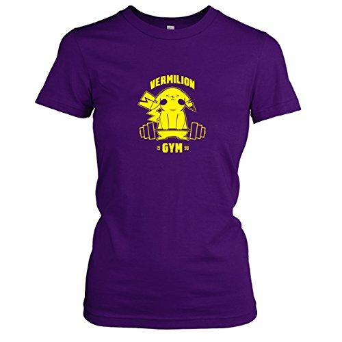 Damen T-Shirt, Größe XL, violett (Pokemon Alpha Saphir Pikachu Kostüme)