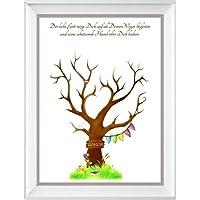 Fingerabdruckbaum Taufe Geschenk, Taufe Gästebuch Alternative, 29x42cm Poster