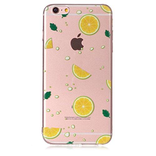 Apple iPhone 6 Plus Hülle, Voguecase Silikon Schutzhülle / Case / Cover / Hülle / TPU Gel Skin für Apple iPhone 6 Plus/6S Plus 5.5(Pflaumen/Hirsch 04) + Gratis Universal Eingabestift Zitrone 06
