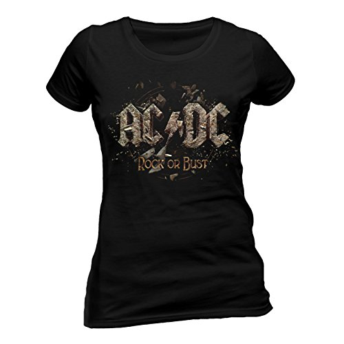 AC/DC - ROCK OR BUST (FITTED) (L) (Rock T-shirt Damen)