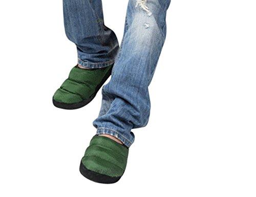 Homme/femme Pantoufles D'intérieur Pantoufle Chaleureux Chausson Hiver Imperméable Antidérapante Chaussures Doux en Peluche Confortable et Léger-Bleu Foncé Vert