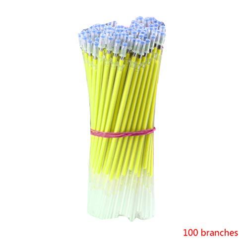 Minzhi 100pcs 6 Farben Gel Pen Refill 1mm Typ Kugelschreiber Glatt Refills Students Briefpapier School Supplies