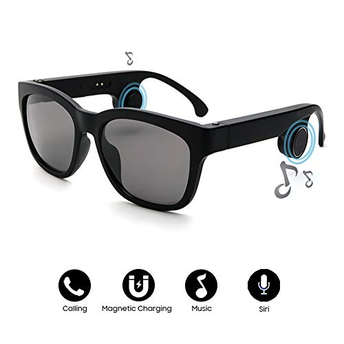 NAMENLOS Bluetooth polarisierte Sonnenbrille Knochenleitung Headset Sonnenbrille Bluetooth Smart Audio Stereo-Kopfhörer Drahtlose Kopfhörer mit Mikrofon