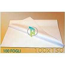 Palucart® Fogli Carta Velina Bianca 100X150 220 Fogli 15kg