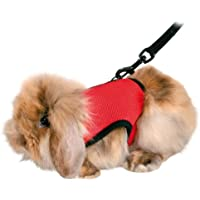 Trixie 61512 Harness for Small Animals for Guinea Pigs Nylon 13 - 17 cm / 18 - 25 cm, Assorted Colors