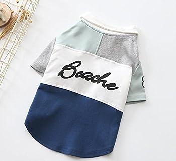PvxgIo Chat Chien Vêtements Printemps Beau Polo Shirt Chien Deux Pieds Vêtements Bleu L