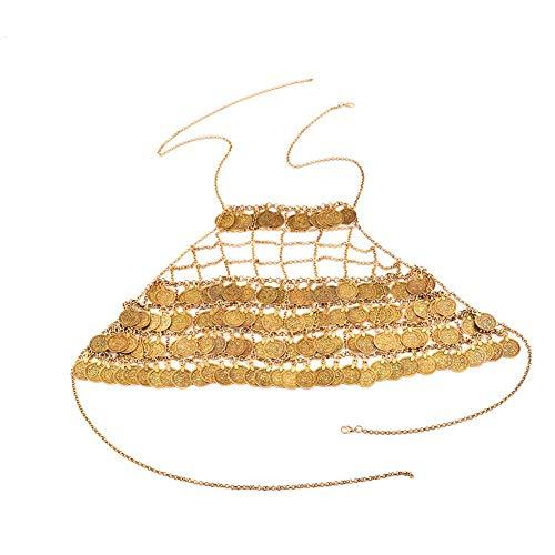 Csheng Halskette Damen Goldkörperkette Frauen-Körperkette Körperkette Halskette Gold