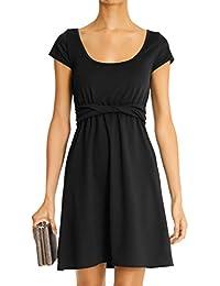 bestyledberlin robe du soir, robe avec col rond, robe élégante k23pa